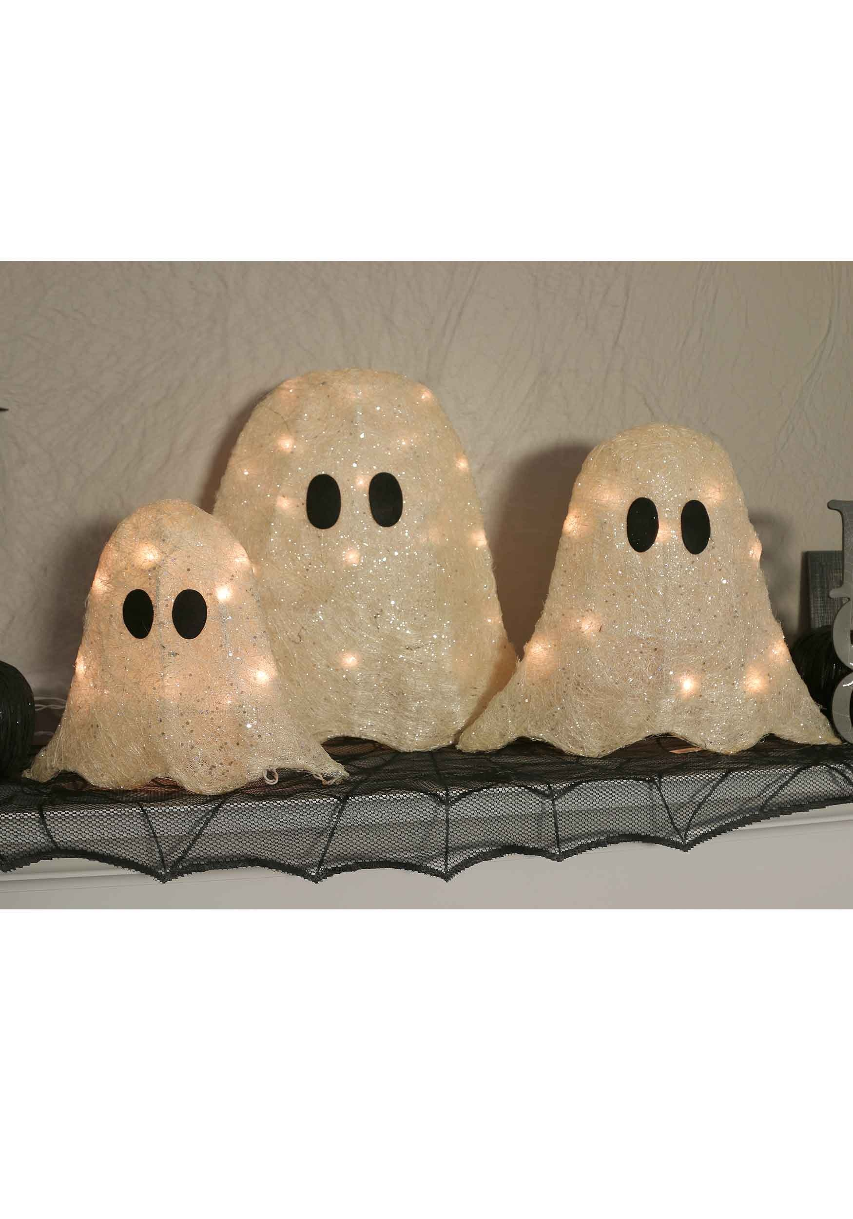 "12/16/19"" Set of Three LED Ghosts"