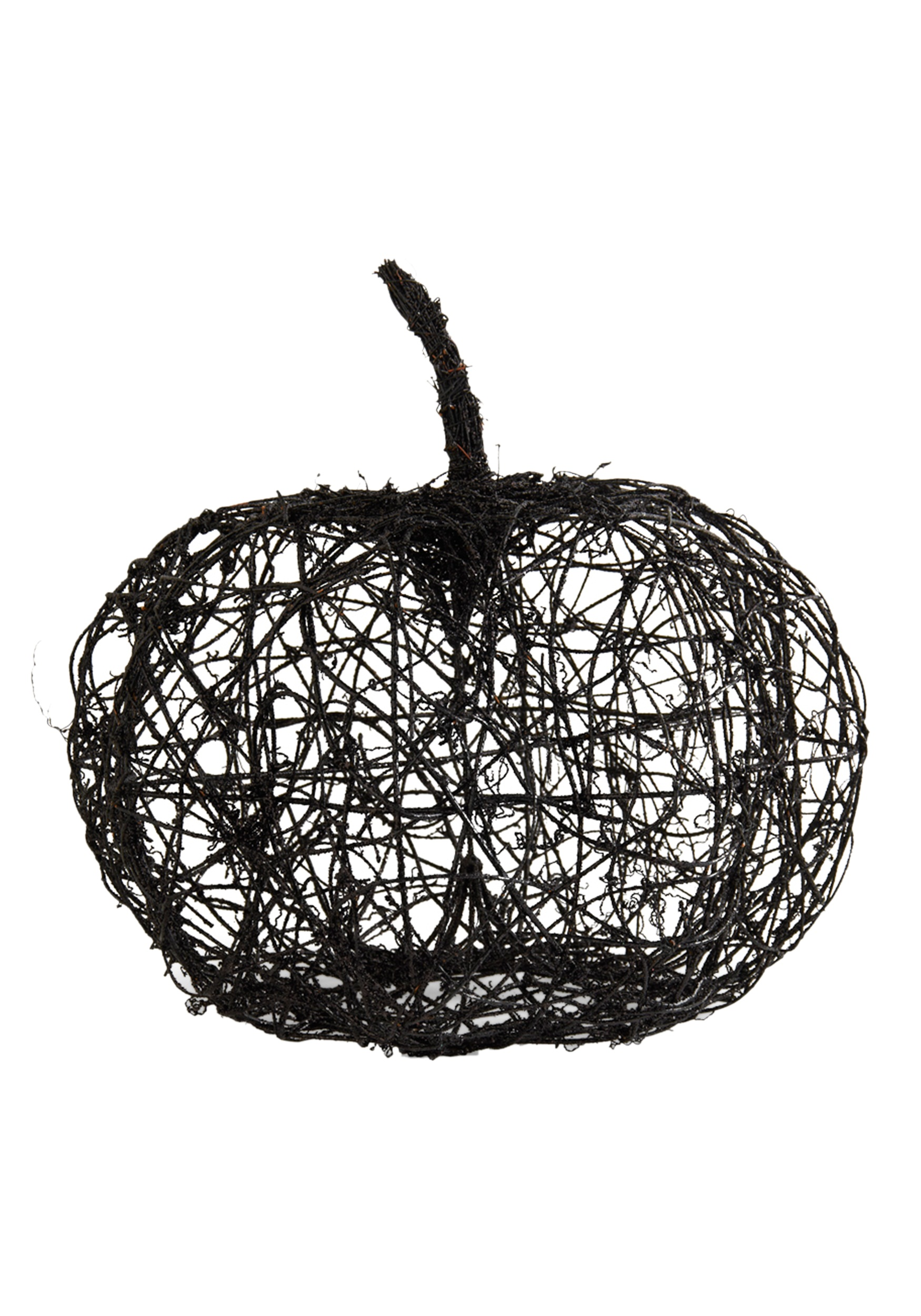 "16.5"" Black Wire Glitter Pumpkin"