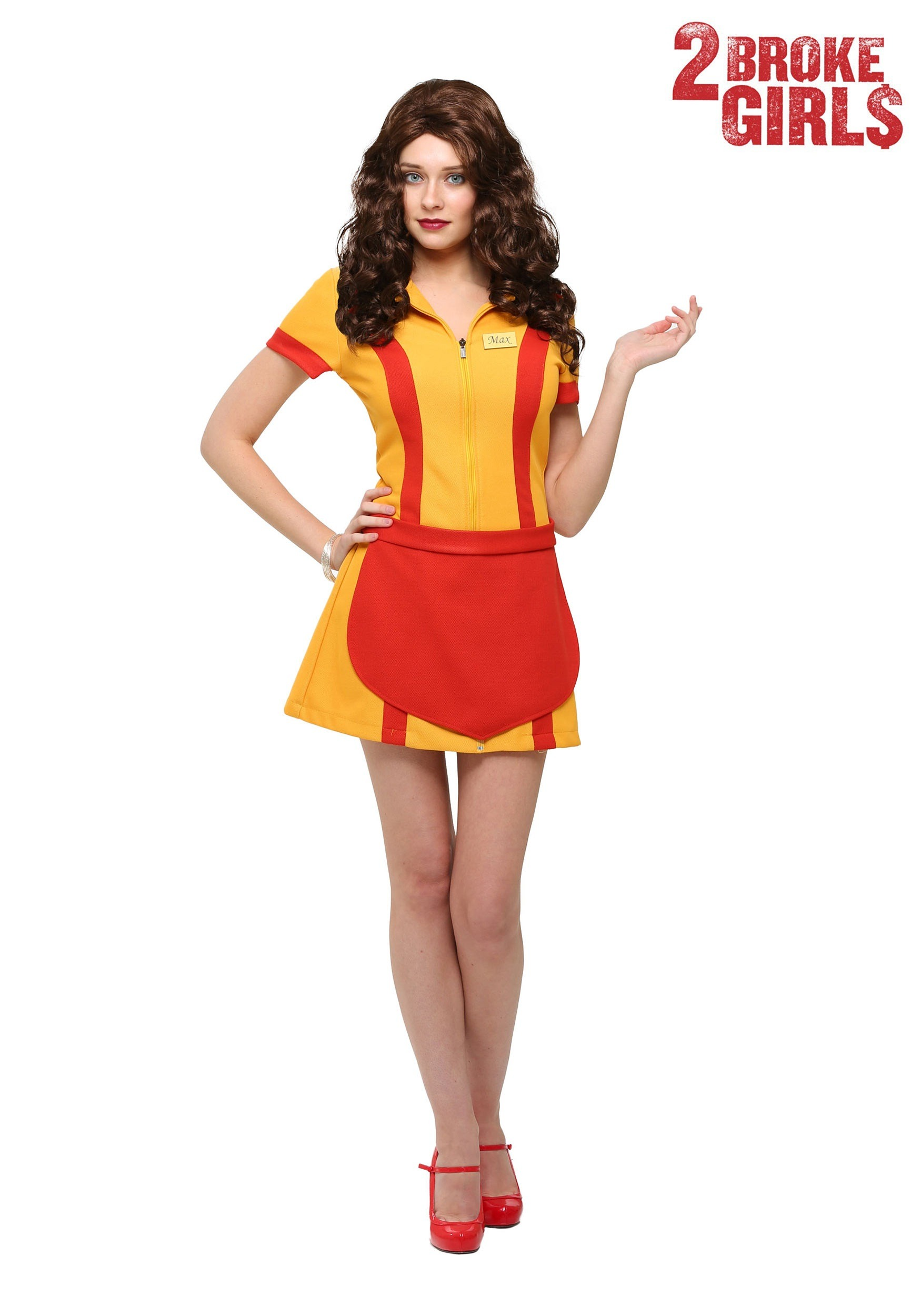 2 Broke Girls Plus Size Waitress Costume