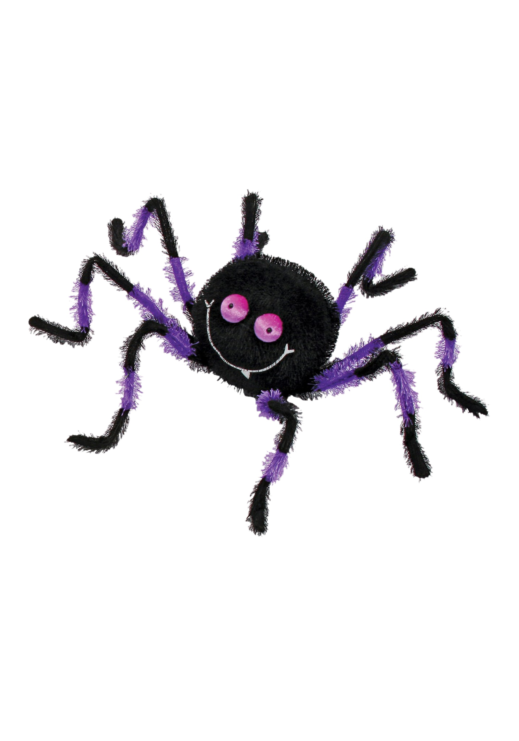"20"" Purple and Black Posable Friendly Spider"