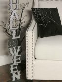 "36"" Silver Vertical Halloween Cutout"