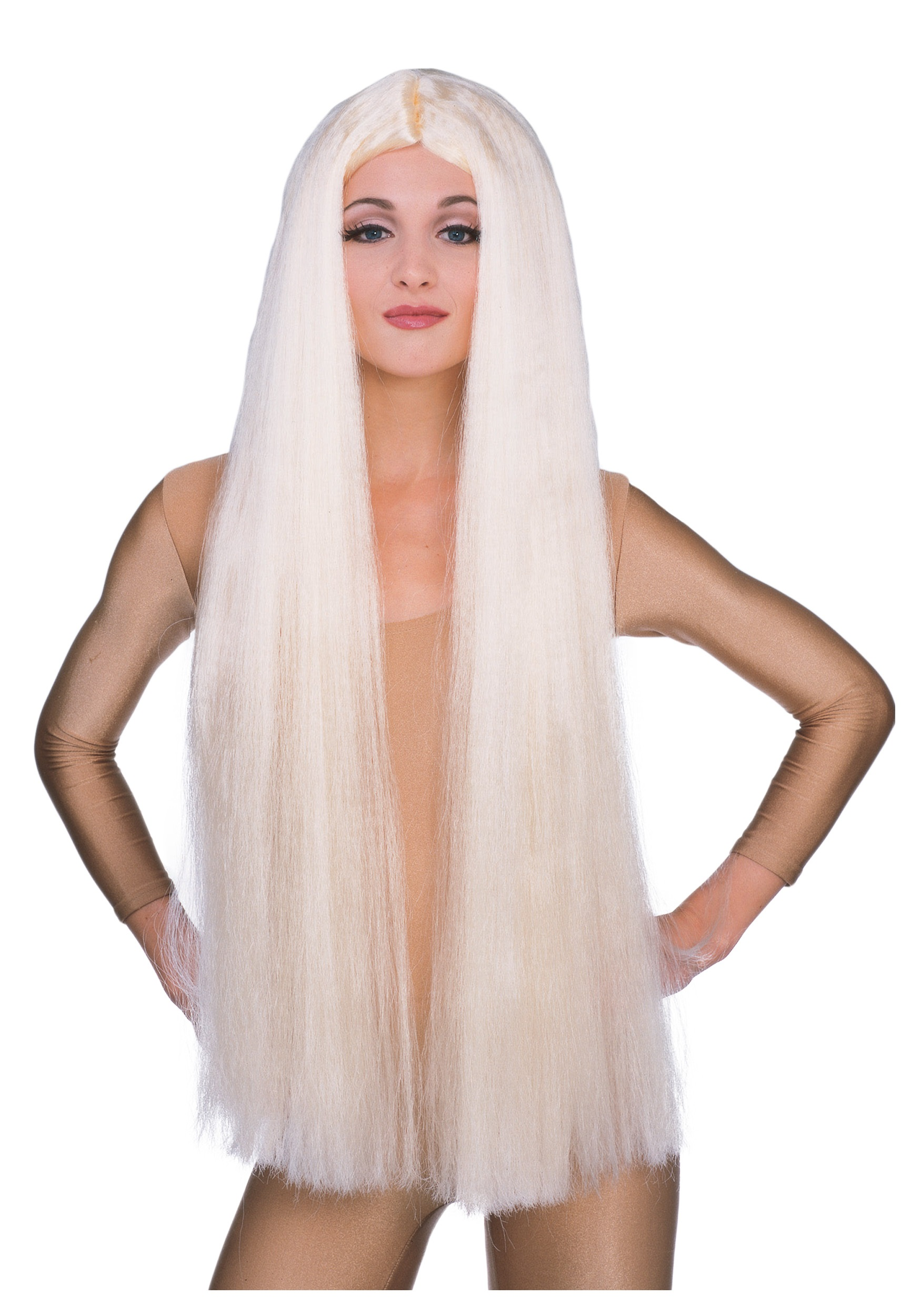 36in Long Blonde Witch Wig