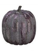"6"" Purple Glittered Pumpkin"