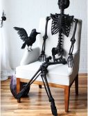 "63"" Black Glitter Skeleton"