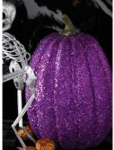 "7.5"" Tall Purple Glitter Pumpkin"