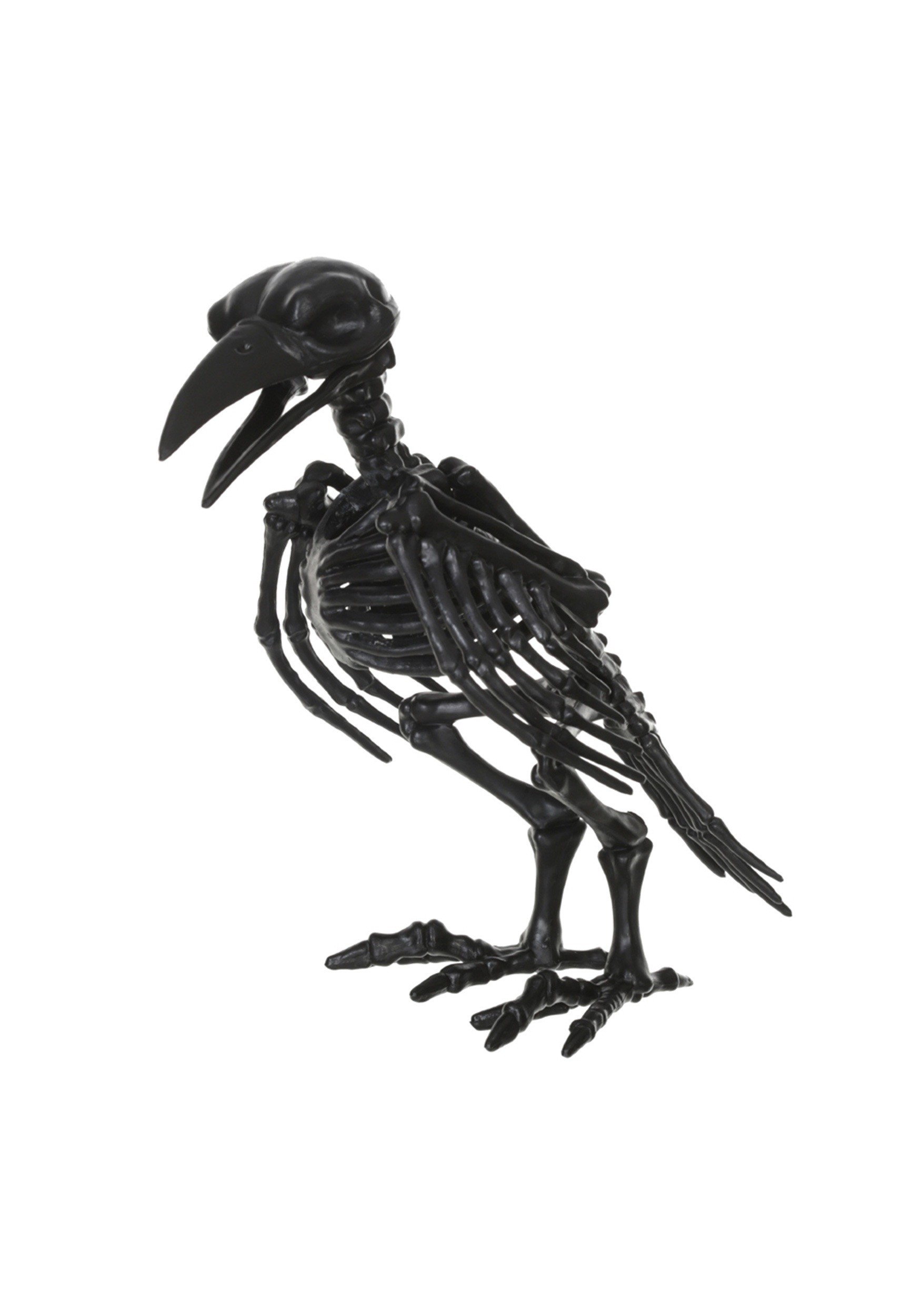 "8"" Black Skeleton Crow"