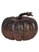 "8"" Orange And Black Crackle Pumpkin"