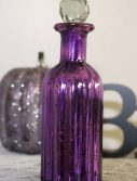 "9"" Purple Mercury Glass Perfume Bottle"