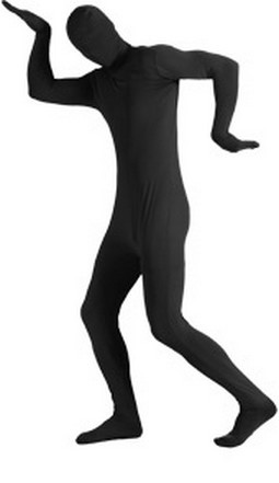 Adult 2nd Skin Black Body Suit