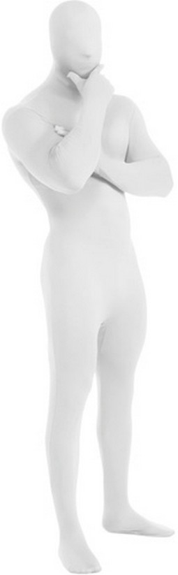Adult 2nd Skin White Body Suit