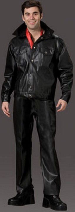 Adult 50's Leather Jacket Set Costume