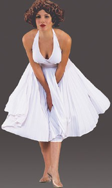 Adult 50's White Halter Dress