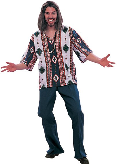 Adult 60's Male Hippie Costume (Diamonds)