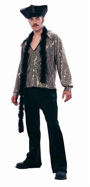 Adult 70's Dance Fever Costume - Gold Top/Pant