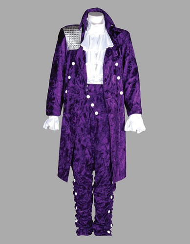 Adult 80s Rock Star Costume ? Purple