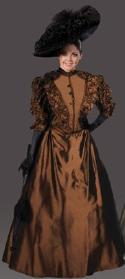 "Adult ""Annie"" Victorian Dress - Chocolate Brown"