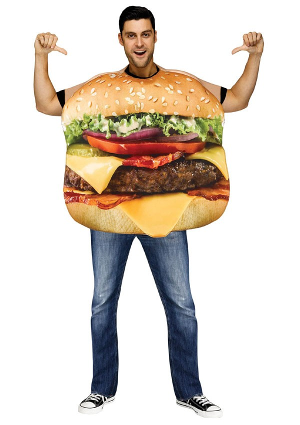 Adult Bacon Cheeseburger Costume