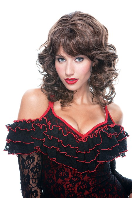 Adult Bianca Wig - Brown w/ Highlights