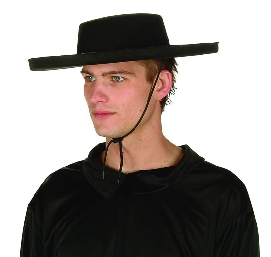 Adult Black Bandit Hat