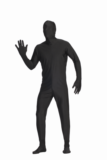 Adult Black Invisible Man Body Suit