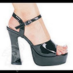 Adult Black Leather Platform Shoes