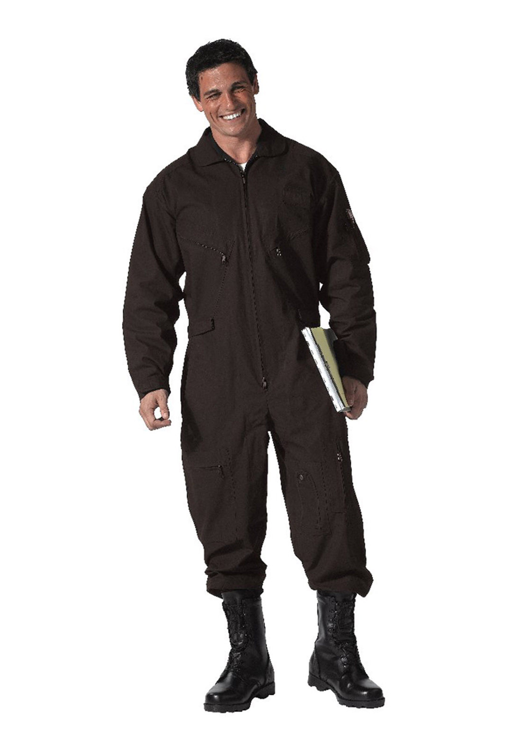 Adult Black Military Flight Suit