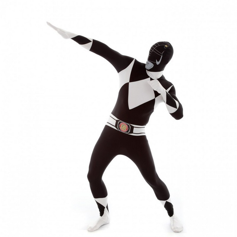 Adult Black Power Rangers Morphsuit