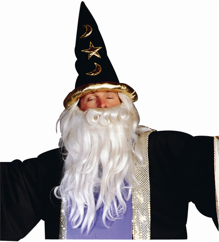 Adult Black Velvet Wizard Hat