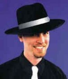 Adult Black Zoot Suit Costume Hat