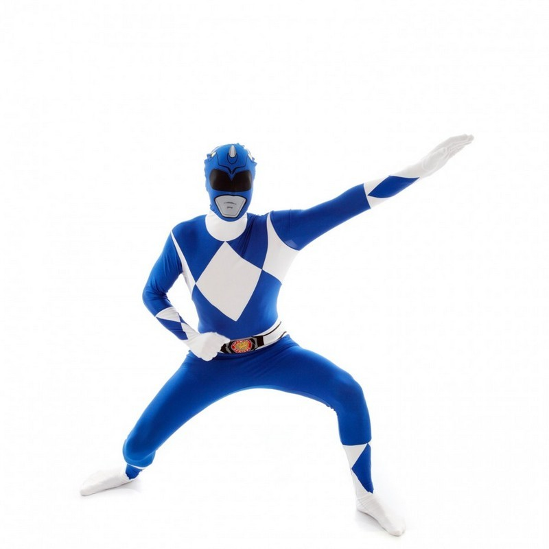 Adult Blue Power Rangers Morphsuit