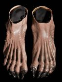 Adult Brown Werewolf Feet Shoes Accessory