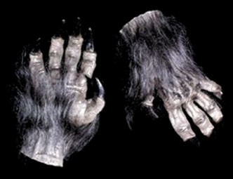 Adult Brown Werewolf Hands Gloves Accessory