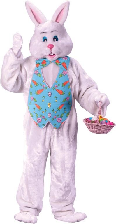 Adult Bunny Costume with Overhead Mask