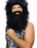 Adult Caveman Wig and Beard - Black