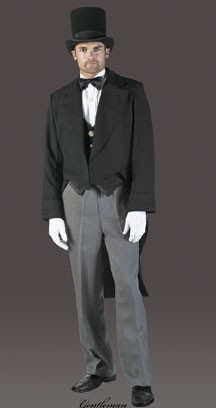 Adult Charcoal Dickensian Suit Costume