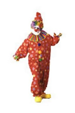 Adult Clown Costume Jumpsuit