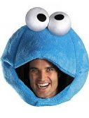 Adult Cookie Monster Headpiece Costume
