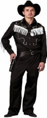 Adult Cowboy Costume Black