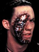 Adult Cyborg Latex Face Appliance Makeup