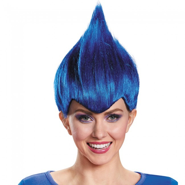 Adult Dark Blue Troll Wig
