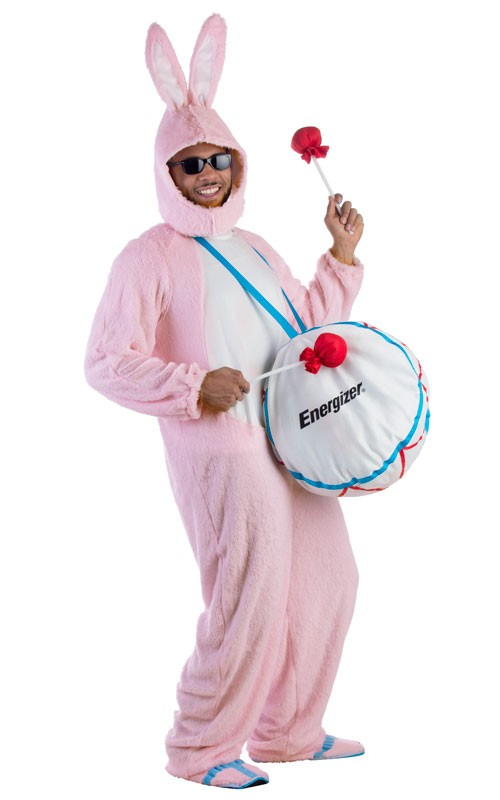 Adult Deluxe Energizer Bunny Costume