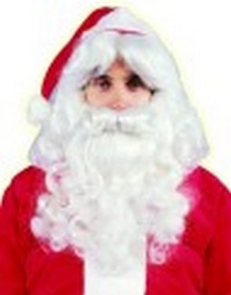 Adult Deluxe Santa Beard & Wig Set