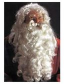 Adult Deluxe Santa Suit Wig and Beard