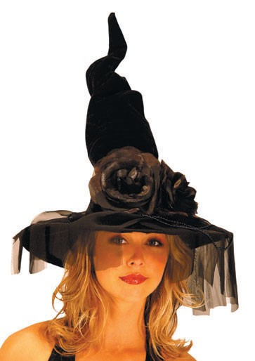 Adult Deluxe Winding Witch Hat