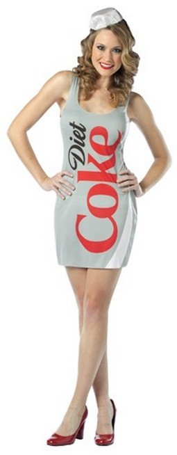 Adult Diet Coca Cola Dress Costume