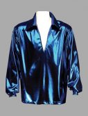 Adult Disco Shirt ? Blue