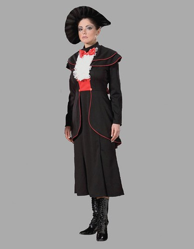 Adult English Nanny Costume ? Black