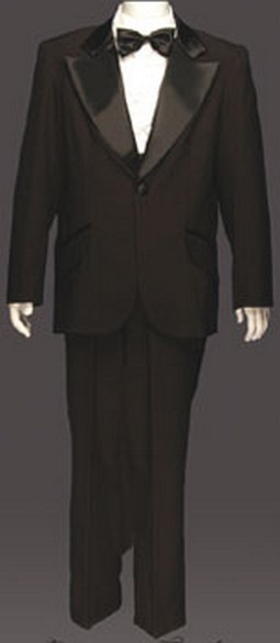 Adult Entertainer Tuxedo Costume - Black