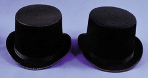 Adult Felt Black Top Hat
