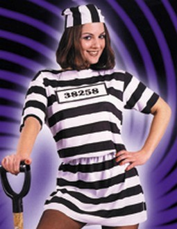 Adult Female Prisoner Convict Costume